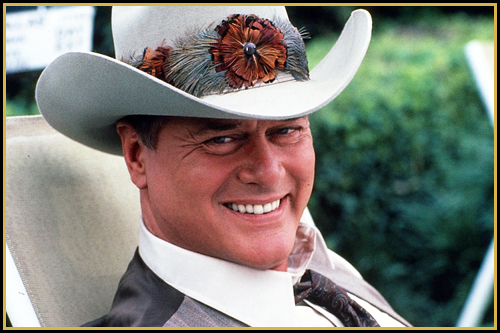 Larry Hagman as J.R. Ewing