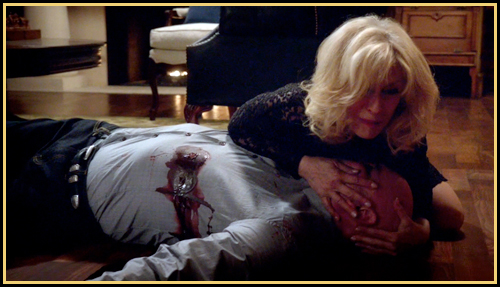 Judith Brown (Judith Light) finds her son after the shooting (image: TNT)