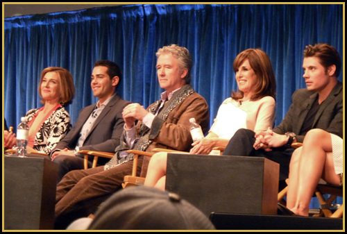 Brenda Strong, Jesse Metcalfe, Patrick Duffy, Linda Gray, and Josh Henderson at PaleyFest