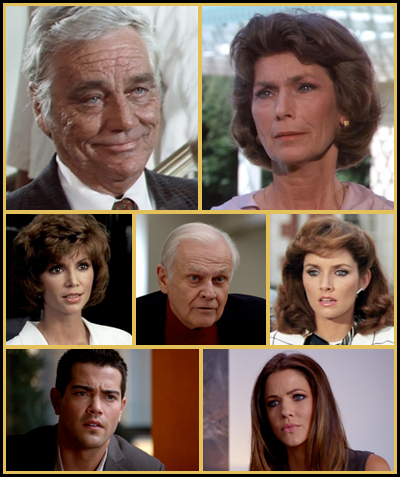 Herbert Wentworth, Rebecca Wentworth Pamela Barnes Ewing, Cliff Barnes, Katherine Wentworth Christopher Ewing, Pamela Barnes